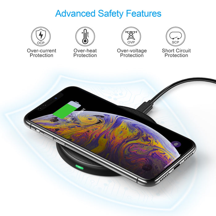 CHOETECH 7.5W Wireless Charging Pad Compatible with iPhone X/8/8 Plus CHOETECH OFFICIAL