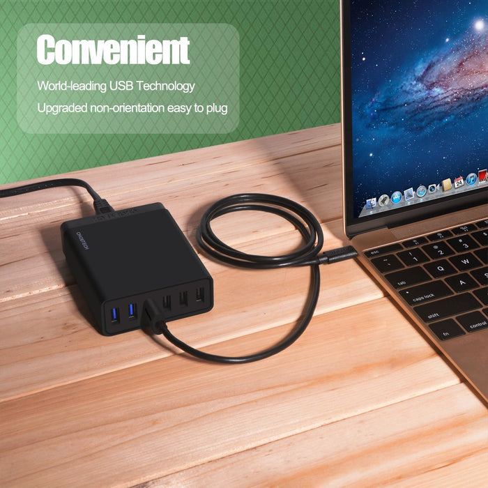 T535-S PowerDual 5 Coils Fast Wireless Charger Pad CHOETECH