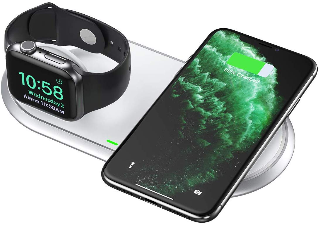 T317 2 in 1 Dual Wireless Charger Pad & Foldable Apple Watch (MFI Certified) CHOETECH