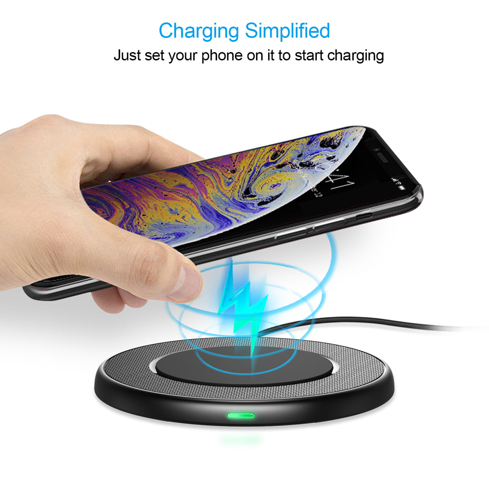T527S Choetech 10W/7.5W Fast Wireless Charging Pad Slim Charger