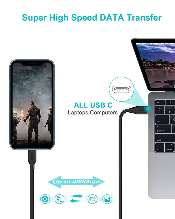 CHOETECH USB C to Lightning Cable [6ft Apple MFi Certified] CHOETECH