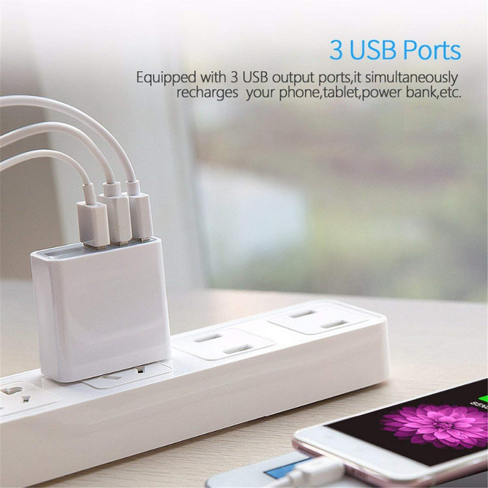 C0026 Rapid Wall Charger LED Display 5V/3A 3-Port Wall Charger CHOETECH