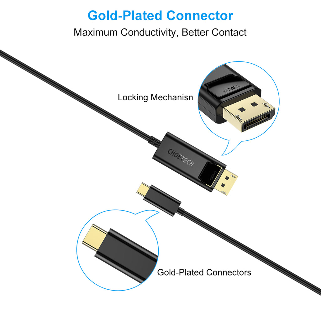 XCP-0012 USB C to DisplayPort Cable 4K@60Hz CHOETECH