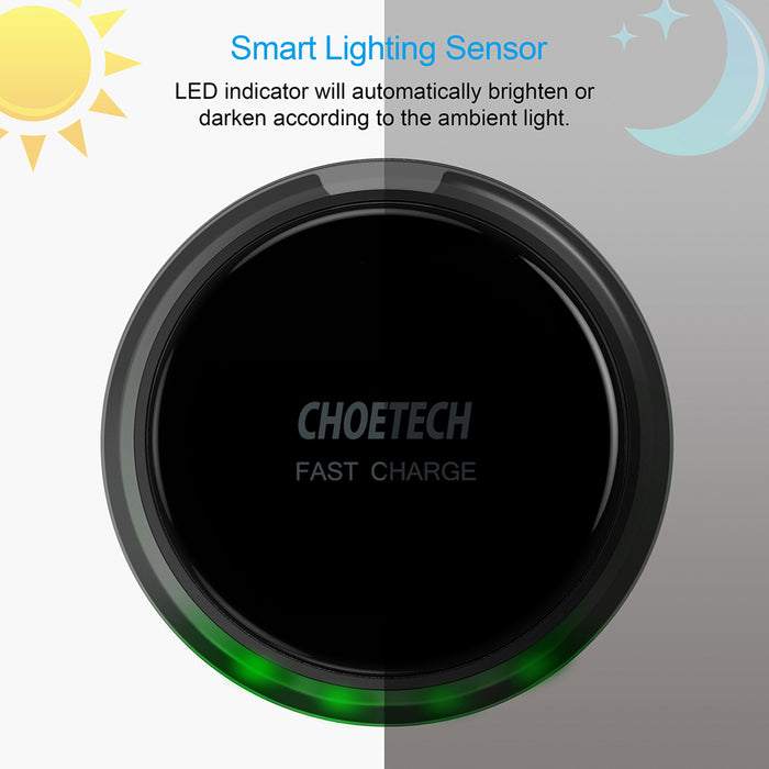 T518 Qi Certified 7.5W Fast Wireless Charger CHOETECH