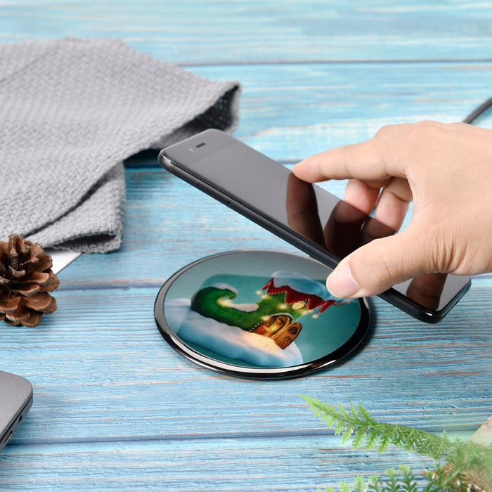 T556-S Ultra-Slim Zinc Alloy Fast Wireless Charger