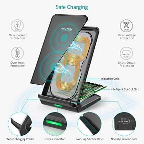 T524S Choetech 10W/7.5W Fast Wireless Charging Stand