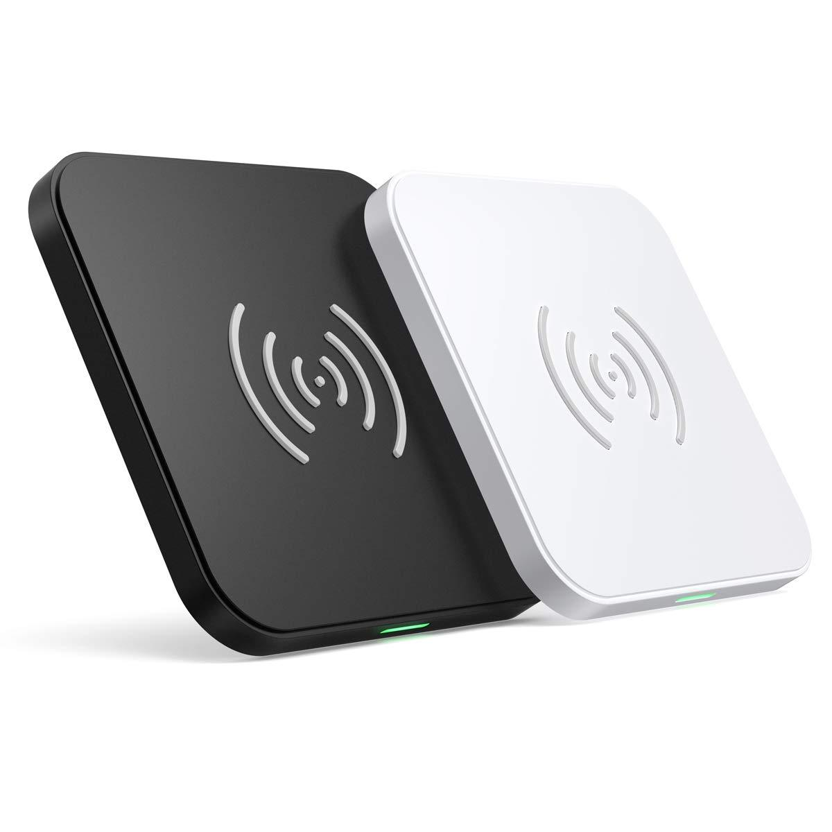 T511BW CHOETECH Qi-Certified Fast Wireless Charging Pad Black and White 2 Pack
