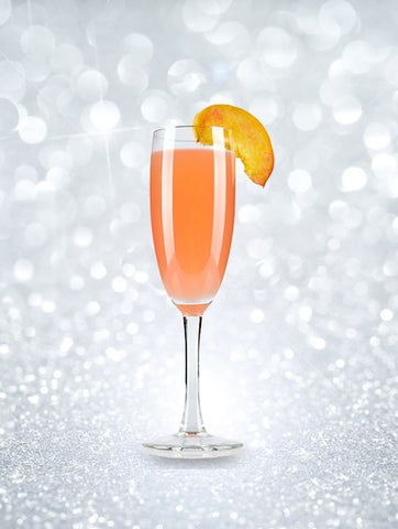 New Year's Eve Champagne cocktails - Bellini champagne cocktail