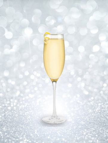 New Year's Eve Champagne cocktails - French 75 champagne cocktail