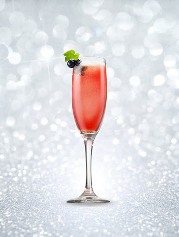 New Year's Eve Champagne cocktails - Kir Royale champagne cocktail
