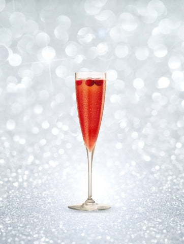 New Year's Eve Champagne cocktails - Poinsettia champagne cocktail