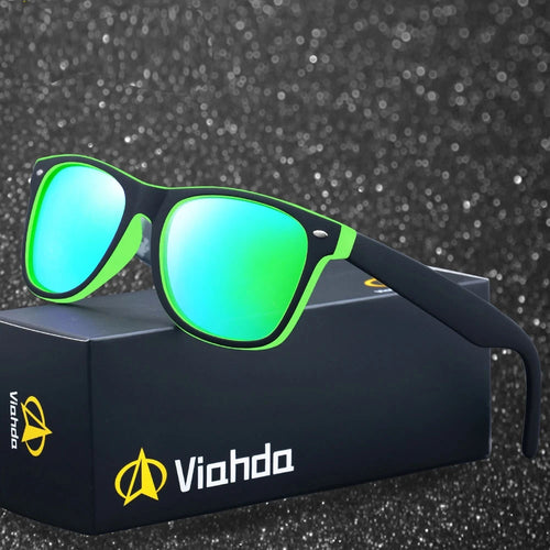 VIAHDA 2018 New Rivet Polarized Sunglasses Men Sun Glasses Brand Classic Polaroid Lens Vintage Shades Oculos Male - southcoastshades