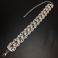 Rhinestone choker Crystal Womens Bridal Wedding necklace Collar - southcoastshades