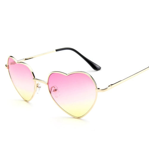 Love Heart Shape Sunglasses Women Candy Mirror Lens UV400 - southcoastshades