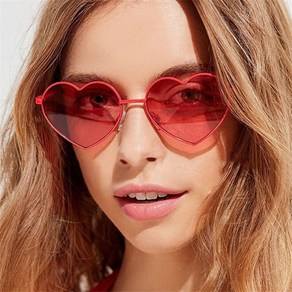 Heart Shaped Wire Rim Women Sunglasses Color Tint  UV400 - southcoastshades