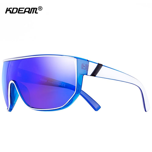 Large Big Oversized Men Sunglasses Unilens Shield Color Mirror Women UV400