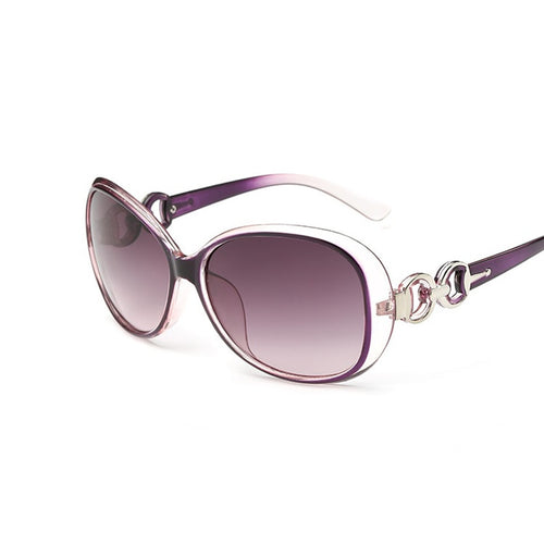 Large Oversize Clear Rim Color Tint Womens Sunglasses