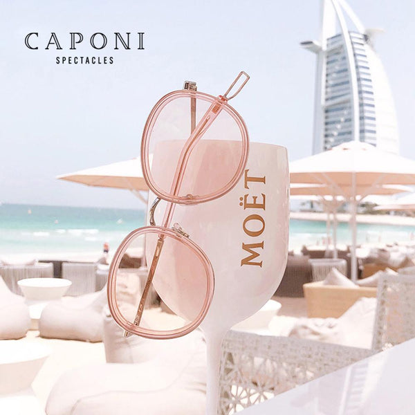 CAPONI Round Women's Sunglasses Fashion Vintage Designer Accessories Eyewear 2020 New Trendy Brand Sun Glasses For Women CP118