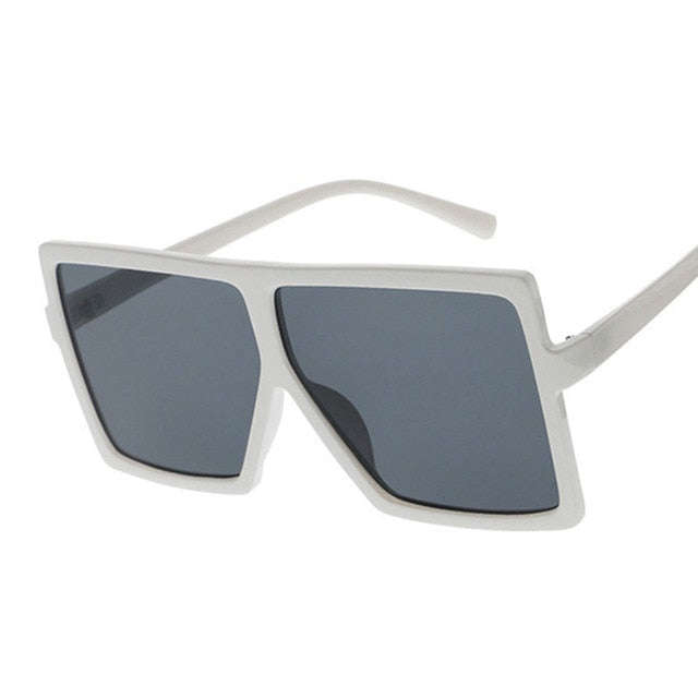 Oversize Square Large Womenas Color Tint Sunglasses