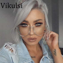 Oversized Large Circle Round Rimless Clear Candy Color Sunglasses Women UV400 - southcoastshades