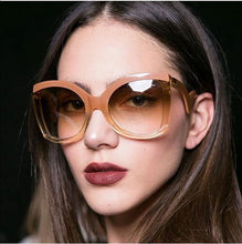 Women Oversized Butterfly Gradient Color Lens Sunglasses - southcoastshades
