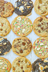 Crazy Cookie Dough Kit features everything you need to make 12 large, bakery-style cookies!