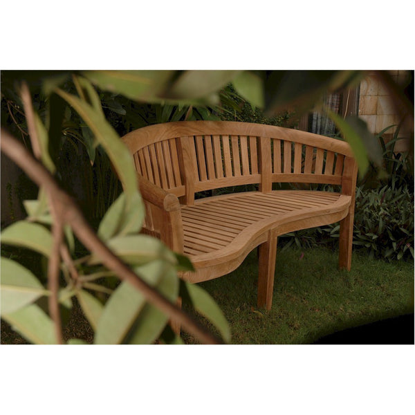 Anderson Teak Curve 3 Seater Bench Extra Thick Wood - American Teak