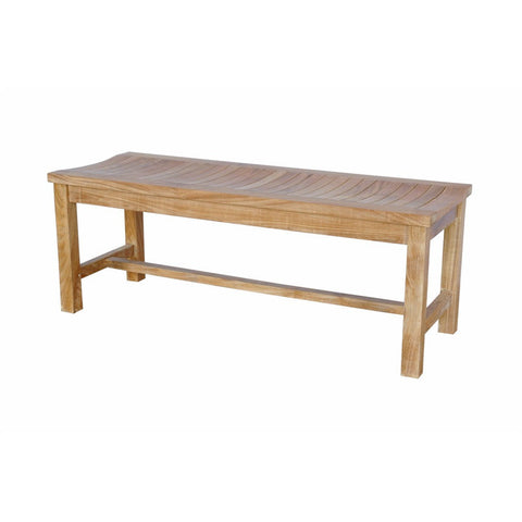 Anderson Teak Casablanca 2-Seater Backless Bench - American Teak