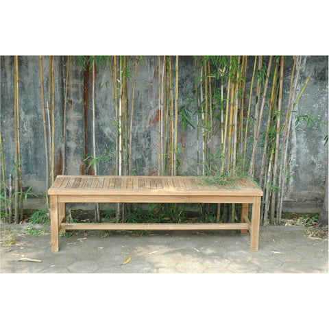 Casablanca 3-Seater Backless Bench - American Teak