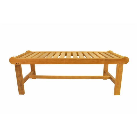 Cambridge 2-Seater Backless Bench - American Teak