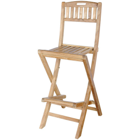 Anderson Teak Altavista Folding Bar Chair - American Teak