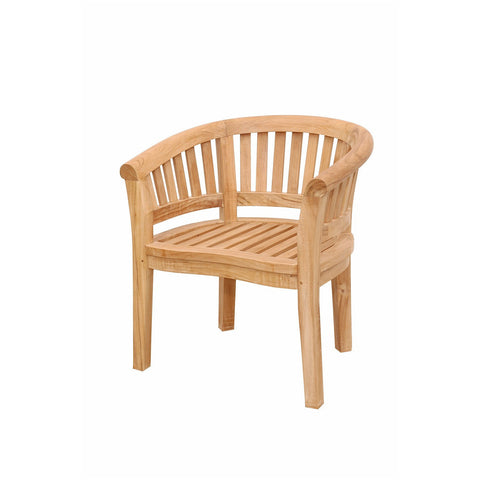Anderson Teak Curve Armchair Extra Thick Wood - American Teak