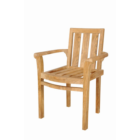 Anderson Teak Classic Stackable Armchair (Fully Built & 4 pcs in a box) - American Teak