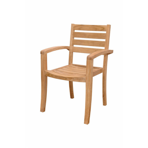 Anderson Teak Catalina Stackable Armchair (Fully Built & 4 pcs in a box) - American Teak