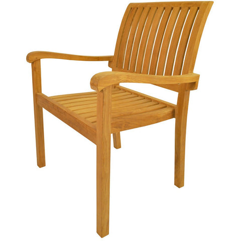 Aspen Stackable Armchair (Fully Built & 4 pcs in a box) - American Teak