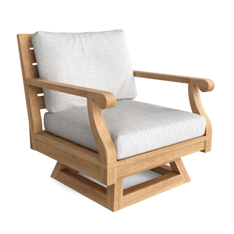 Riviera Swivel Armchair & Cushion - American Teak