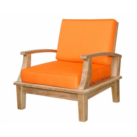 Anderson Teak Brianna Deep Seating Armchair + Cushion - American Teak