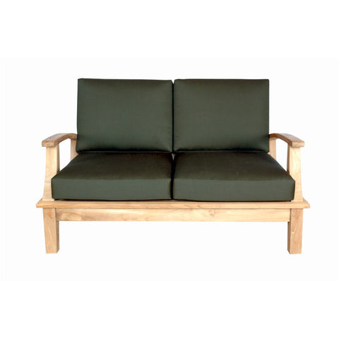 Anderson Teak Brianna Deep Seating Loveseat + Cushion - American Teak