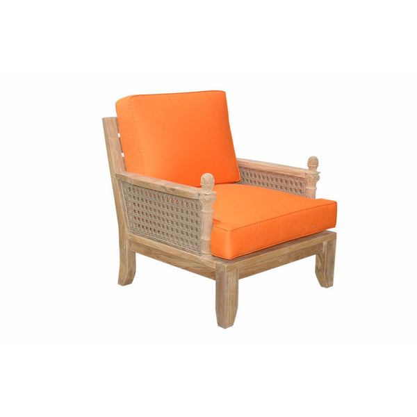 Anderson Teak Luxe Armchair with Cusion - American Teak