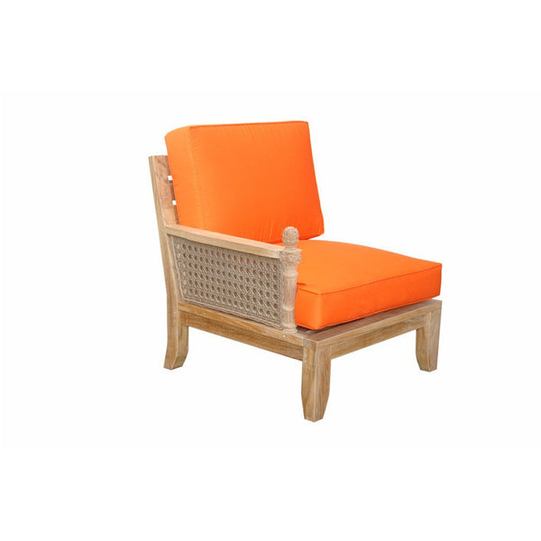 Anderson Teak Luxe Right Modular with Cushion - American Teak