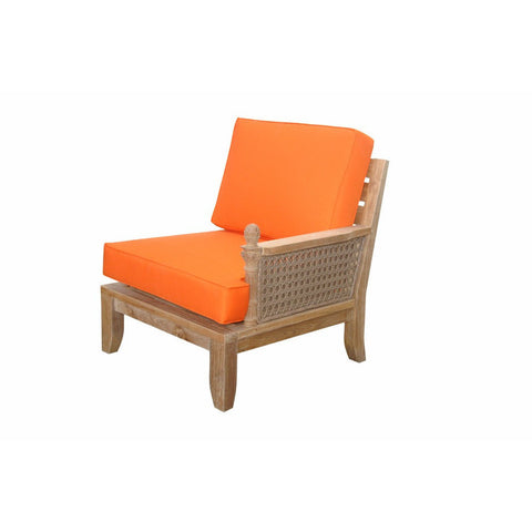 Anderson Teak Luxe Left Modular with Cushion - American Teak