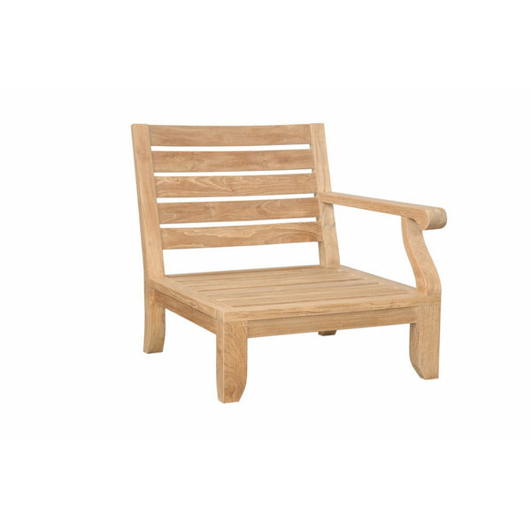 Anderson Teak Riviera Luxe Left Modular with Cushion - American Teak