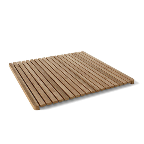Large Square Shower Mat - American Teak