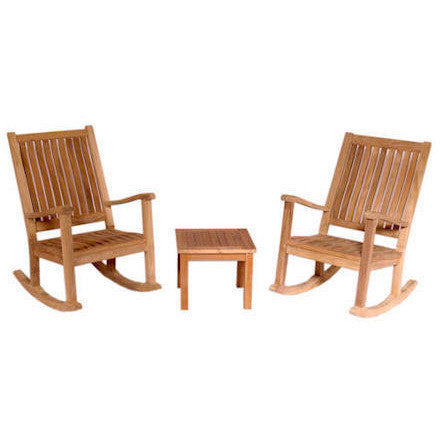 Anderson Teak Del-Amo Rocking Chair + Bahama Side Table Set - American Teak