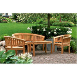 Anderson Teak Curve Bench + 2 Curve Armchairs + Curve Coffee Table - American Teak