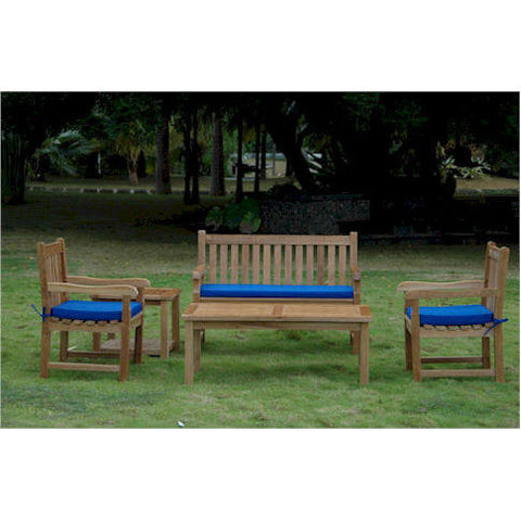 Anderson Teak Classic 2-Seater Bench + Dining Armchair Set - American Teak