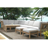 11 Piece Natsepa Modular Deep Seating Sectional Sofa Set Set-138 - American Teak