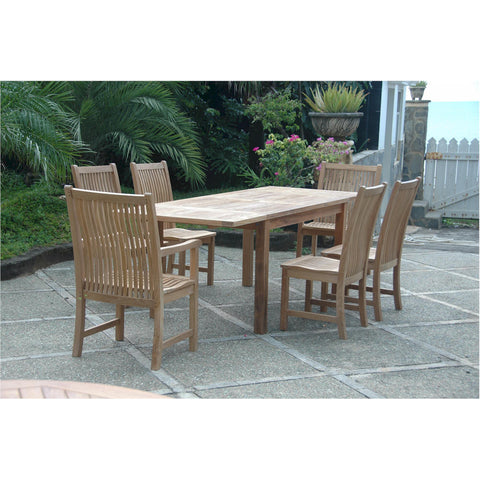 "95"" Rectangular Extension Table + 6 Chicago Chairs - American Teak"