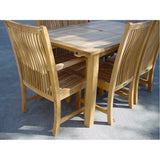 "Anderson Teak 95"" Rectangular Extension Table + 6 Chicago Chairs - American Teak"