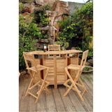 Anderson Teak Altavista Folding Bar Table - American Teak